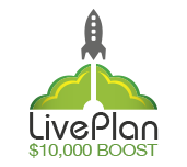 LivePlan 10K Boost Logo