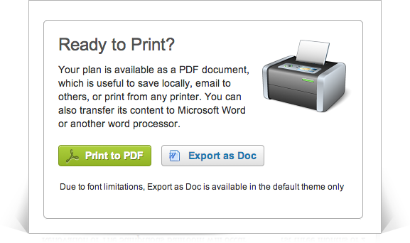 Easy export to Microsoft Word