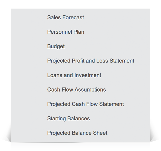 full business plan financials