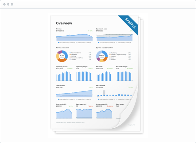 Beautiful PDF reports for printing and sharing